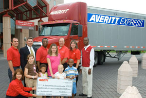 Since 1990, Averitt Express employees have delivered hope to St. Jude patients through Averitt Cares for Kids, the company's employee giving program.