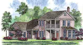 Artist's rendering of a St. Jude Dream Home house