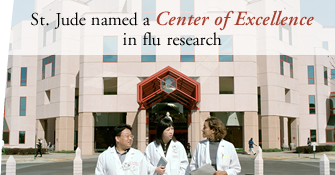 St. Jude named a Center of Excellence in flu research