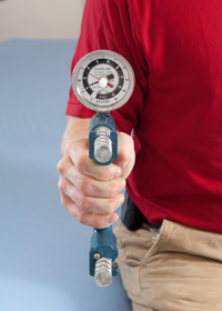 A hand-held dynamometer