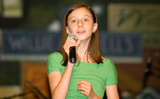 Lizzie Ayoub sings for St. Jude