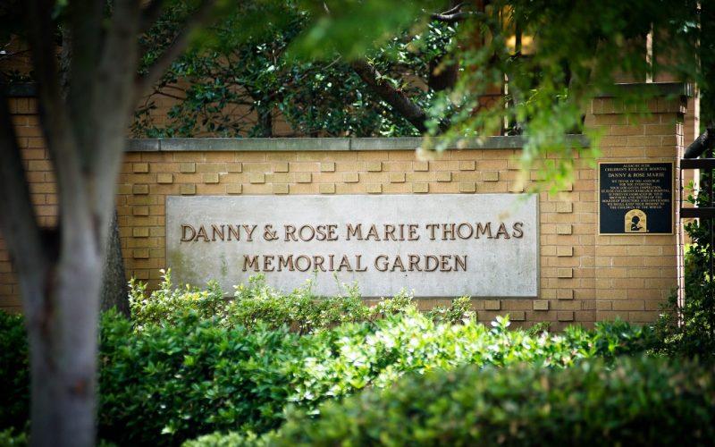 danny and rose marie thomas memorial garden