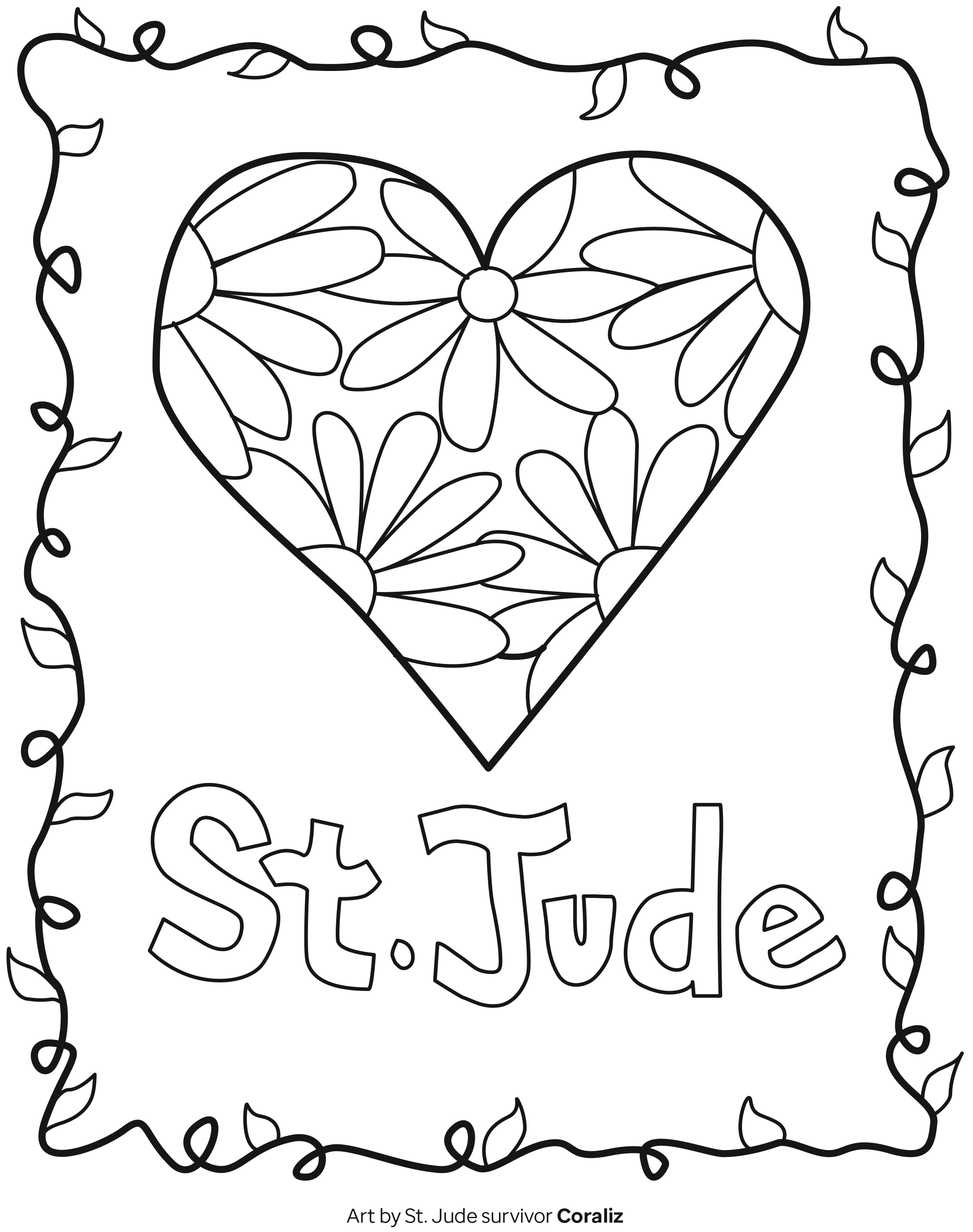 Coloring Pages And Games For Kids Print For Free St Jude Children S Research Hospital