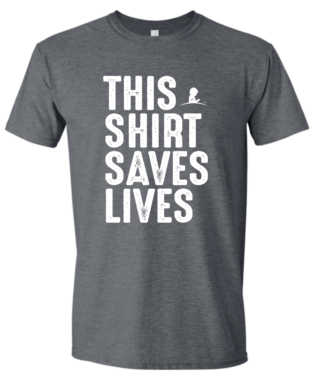 This Shirt Saves Lives charcoal grey T-shirt