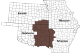 Service catchment map of Tulsa